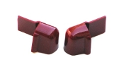 1968 AMC AMX / Javelin Red Lock Pillar Stormstrip Top Cover Caps
