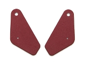 1969 AMC AMX / Javelin Red Inner Seat Hinge Bracket Covers